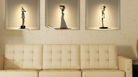 Sada tří 3D samolepek Ambiance African Statues