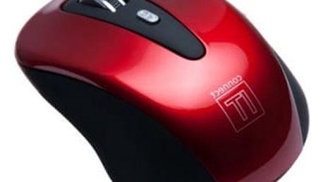 Myš Connect IT CI-152 (CI-152) červená / optická / 5 tlačítek / 1600dpi