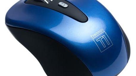 Myš Connect IT CI-164 (CI-164) modrá / optická / 5 tlačítek / 1600dpi