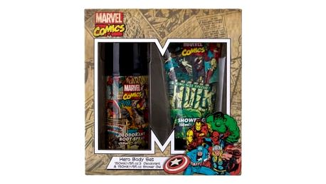 Marvel Comics Hero dárková kazeta deospray Deodorant 150 ml + sprchový gel 150 ml