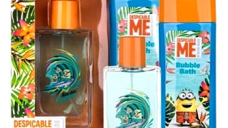 Minions Minions Paradise dárková kazeta toaletní voda 75 ml + pěna do koupele 250 ml