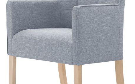 Šedá židle s hnědými nohami Ted Lapidus Maison Freesia