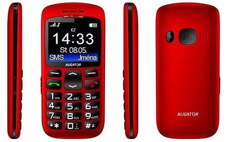 Mobilní telefon Aligator A670 Senior červený