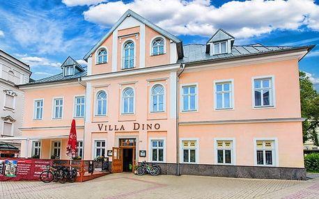 3–6denní wellness pobyt s polopenzí pro 2 osoby v hotelu Villa Dino v Mariánkách