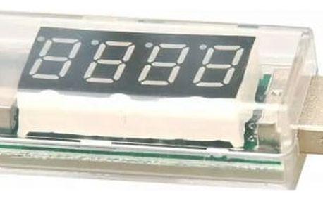 Přenosný USB voltmetr a ampérmetr