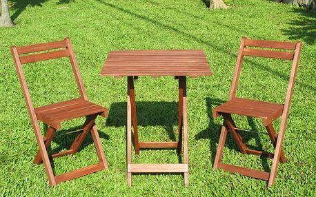 Balkonový dřevěný set Acacia 3-dílný (přírodní)