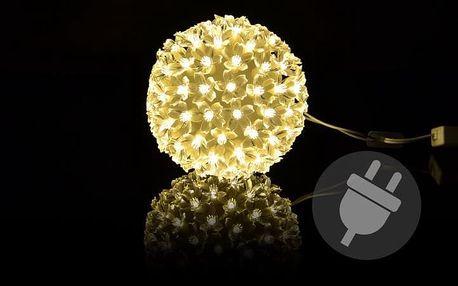 Nexos Trading GmbH & Co. KG 5967 Vánoční dekorace - Vánoční LED koule - 12 cm
