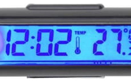 LCD hodiny s teploměrem do auta