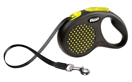 Vodítko Flexi Design M-L Pásek 5m/50kg žluté