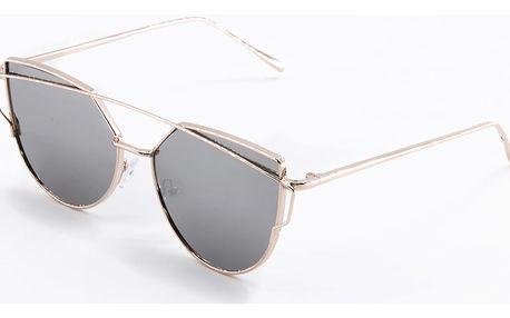 See Vision Zrcadlové sluneční brýle dámské kočičí oči šedé