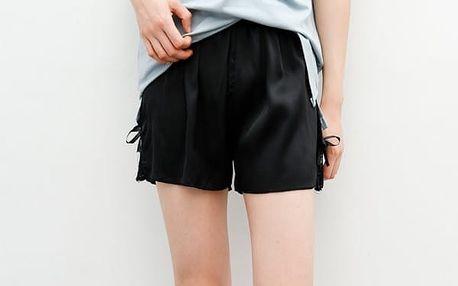 Ležérní černé šortky z příjemného materiálu - 2 barvy