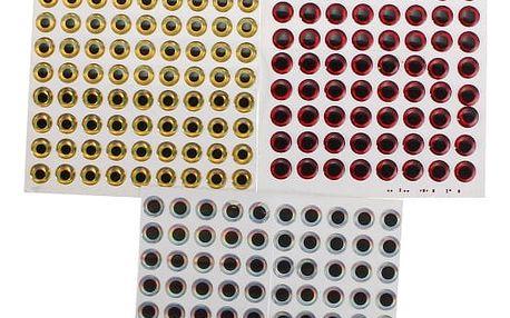 Nalepovací 3D rybí oči 80 ks - 3 barvy