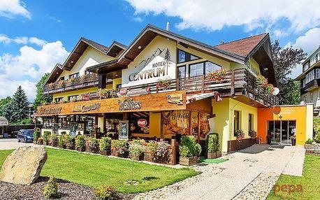 3–6denní wellness pobyt pro 2 s polopenzí v hotelu Centrum Harrachov**** v Krkonoších