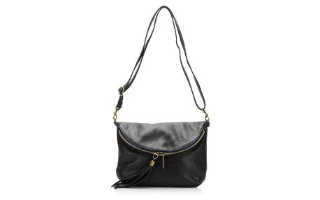 Černá kožená kabelka Grey Labelz Lisa Minardi Vetro