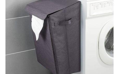 Šedý závěsný koš na prádlo Wenko Turbo-Loc