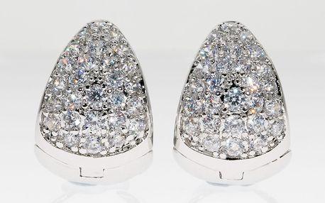 Fashion Icon Náušnice kruhy se krystaly