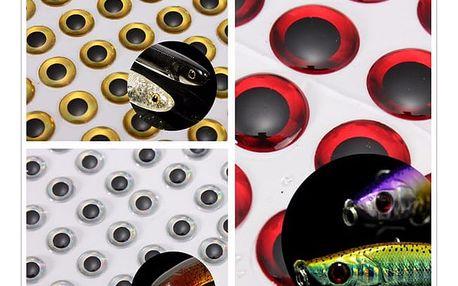 Nalepovací 3D rybí oči 100 ks - 3 barvy