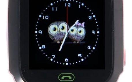 Chytré hodinky s GPS lokátorem a dotykovým displejem - modrá, růžová