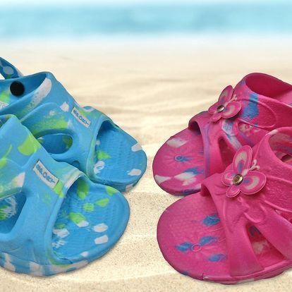 Pohodlné dětské nazouváky a sandálky