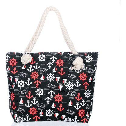 Fashion Icon Plažová taška Kotva lněná 02