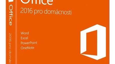Software Microsoft Office 2016 CZ pro domácnosti (79G-04723) + Doprava zdarma