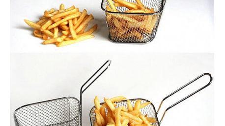 Košík na smažení a servírování jídel