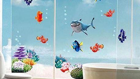 Samolepka na zeď - podmořský svět