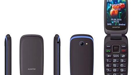 Mobilní telefon Aligator V400 Senior (AV400BB) černý/modrý