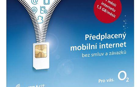 O2 Předplacený mobilní internet s 1,5GB na měsíc - SMALLPO2.363Z30