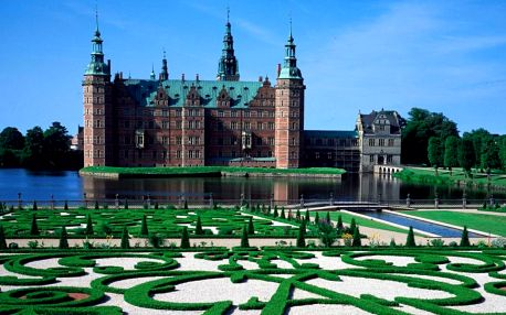 Renesanční zámek Frederiksborg a odpolední Kodaň