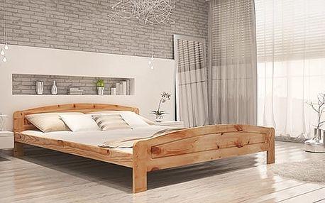 Dřevěná postel KOLORADO - přírodní - lak