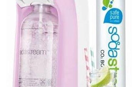 Výrobník sodové vody SodaStream Pastels JET PASTEL ROSE růžový + Láhev dětská SodaStream Příšerky + sirup v hodnotě 399 Kč + Doprava zdarma