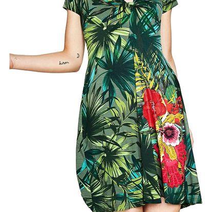 Desigual zelené šaty Maroni - S