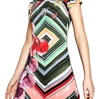 Desigual barevné šaty Lebond - M
