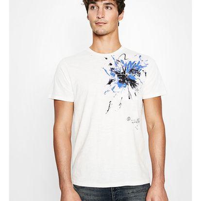 Desigual bílé pánské tričko Mississippi - L