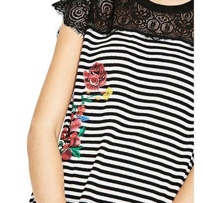 Desigual barevné tričko Lena - M
