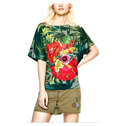 Desigual zelené tričko Maroni - S