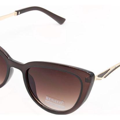 Dámské sluneční brýle See Vision kočičího tvaru hnědé