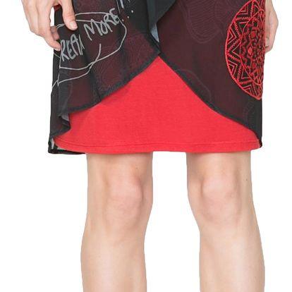 Desigual černo-červená sukně Blackville Rep - 40