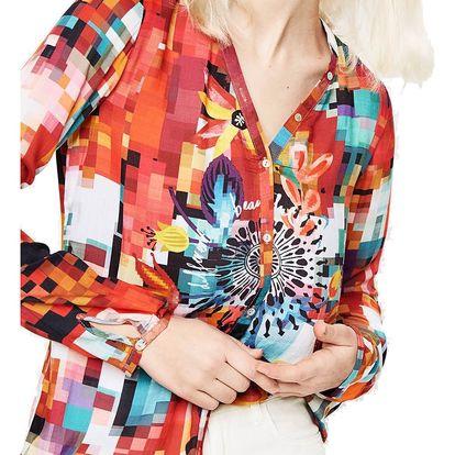 Desigual barevná košile Begoňa - XL
