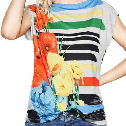 Desigual barevné tričko Sarita - L