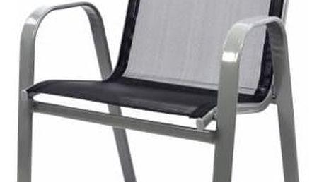 Zahradní stahovatelná židle, antracit