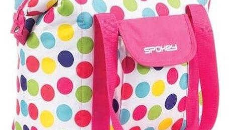 Chladící taška Spokey SAN REMO plážová termo, 52 x 20 x 40 cm barevný puntík