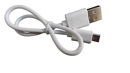 Mikro USB nabíjecí/datový kabel v bílé barvě (30 cm)
