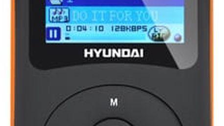 MP3 přehrávač Hyundai MPC 401 FM, 8GB černý/oranžový