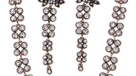 Fashion Icon Sada náušnice a náhrdelník krystaly a patina
