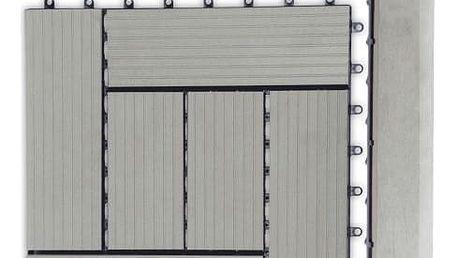 Přechodová lišta G21 pro WPC dlaždice Incana, 38,5x7,5 cm rohová (pravá)