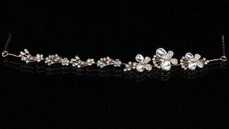 Fashion Icon Plesová čelenka Gold butterfly do vlasů svatební
