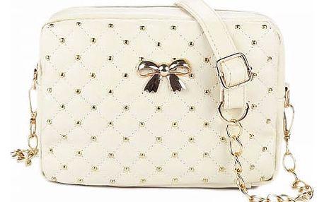 Dámská kabelka s mašličkou a řetízkem