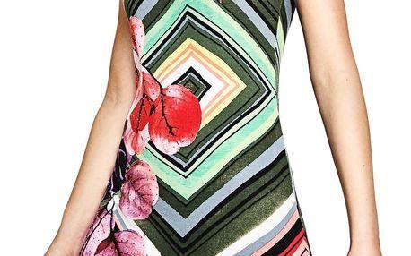 Desigual barevné šaty Lebond - XS